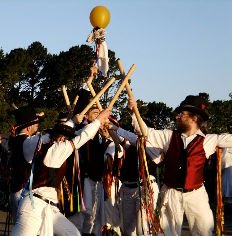 Morris Dancers Invite the Sun