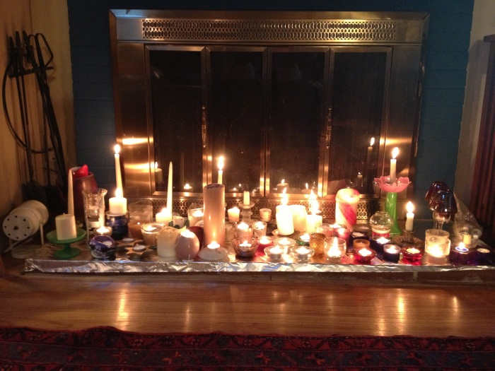 New Years Day Candle light sent out as thank you to all who have read Lightwords in 2012.