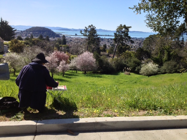 Plein Air Painter and her viewvista