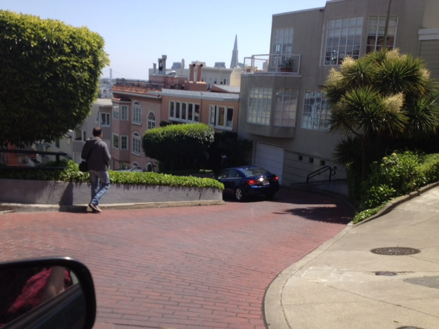 Lombard Street.Not the street in the poem but a poetic street on its own
