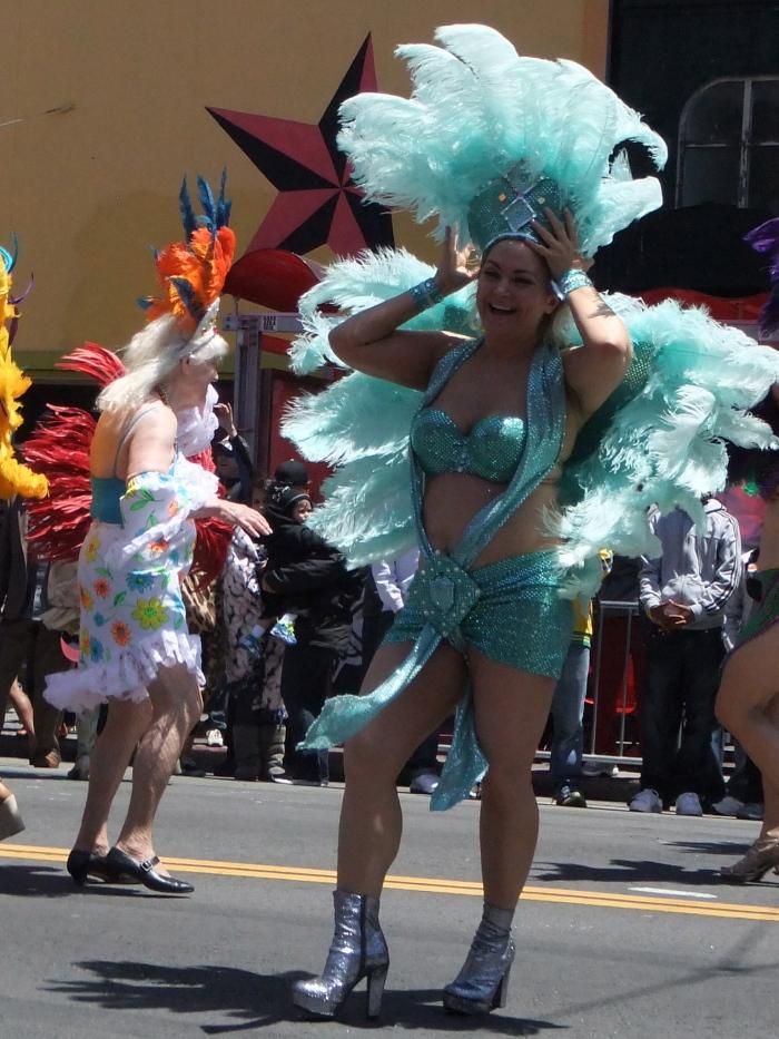 Two Beauties at Carnival Parade