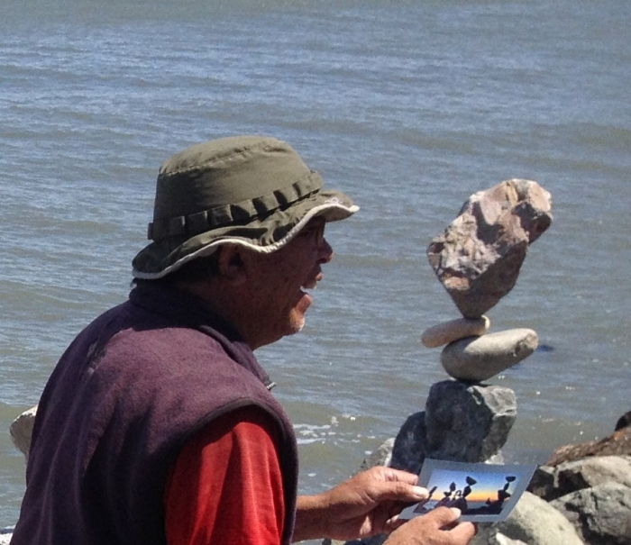 The man who balances stones.
