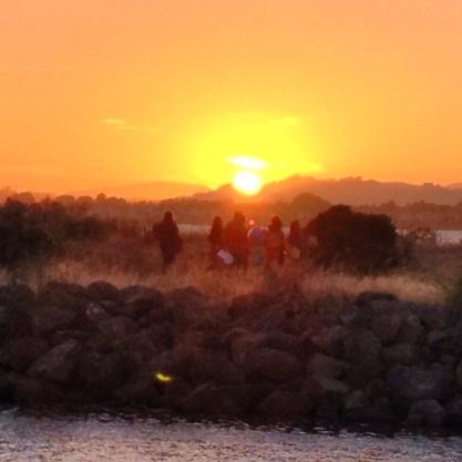 Revelers at Solsice sunset