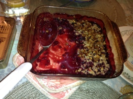 The berry crumble