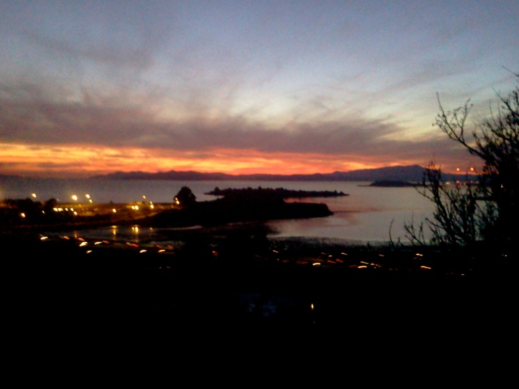Eerie sunset over SF Bay