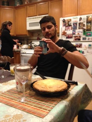 David photographs dinner