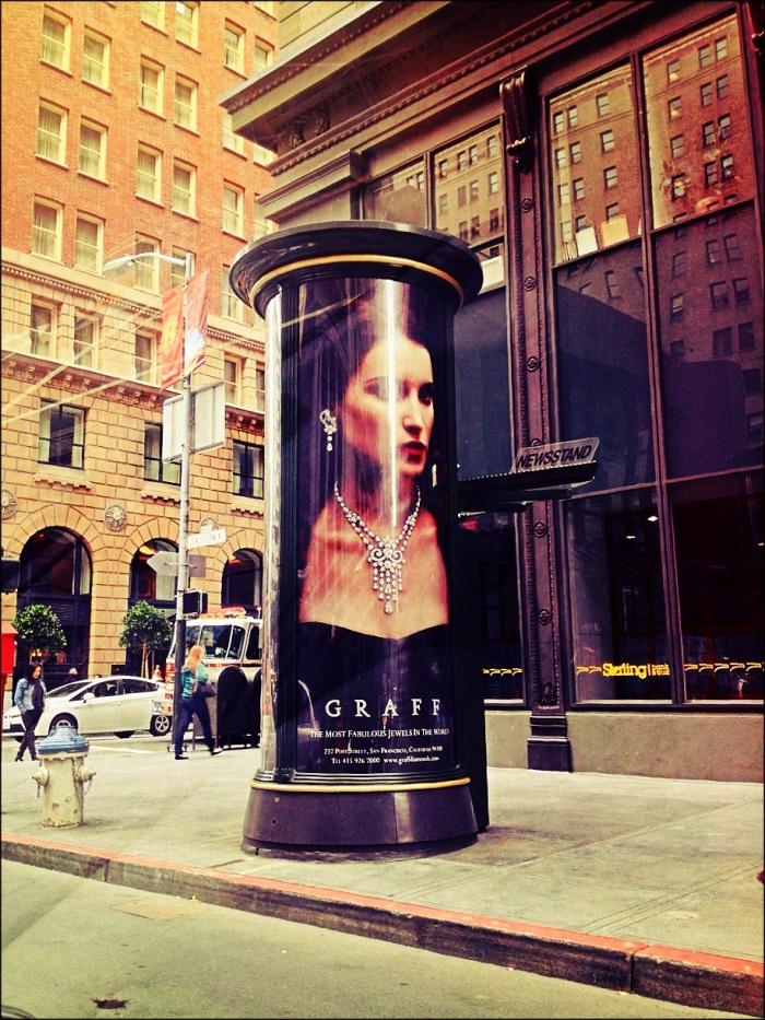 Kiosk on Streets of San Francisco