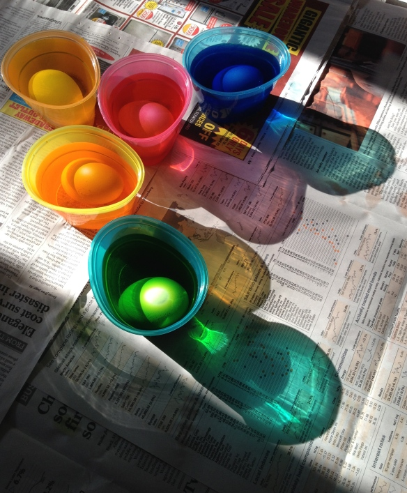 Coloring Eggs In the light