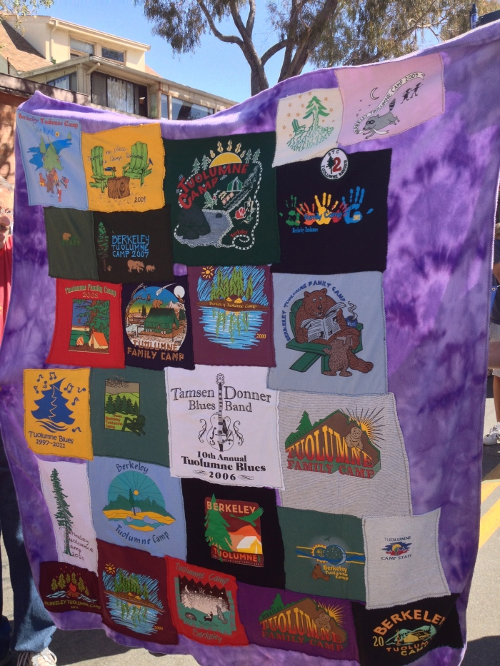 Quilt of Tee Shirts From Berkeley Family Camp