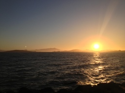 Summer solstice Sunsets North of GGBridge and Mount Tam