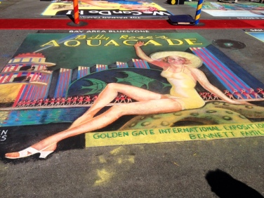 The whole  chalk painting