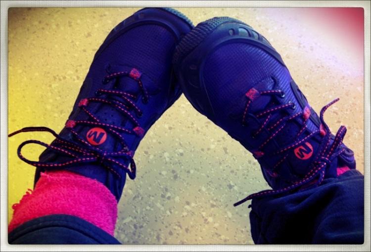New Purple hiking shoes