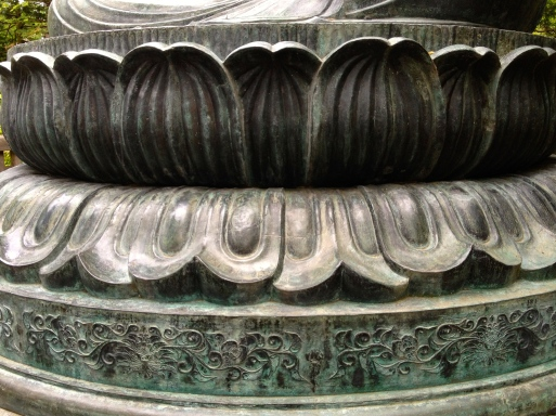 Lotus at the base of the Buddha