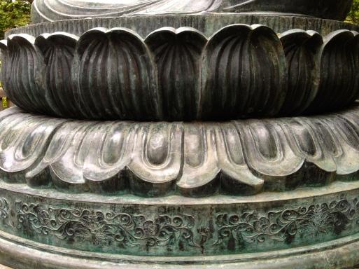 Lotus at the base of the Buddha