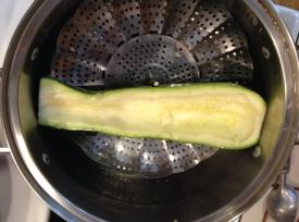 Steaming a big zucch