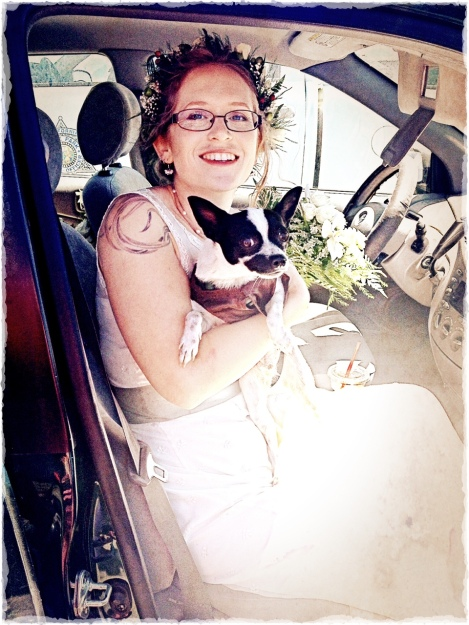 The Bride and Her Dog Pip Lots of contrast here too.