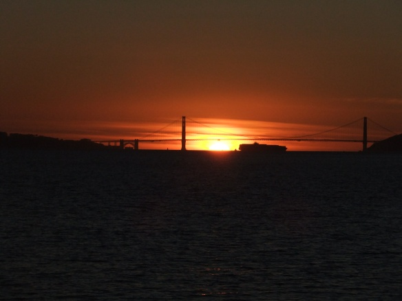 Of course the GG Bridge at sunset