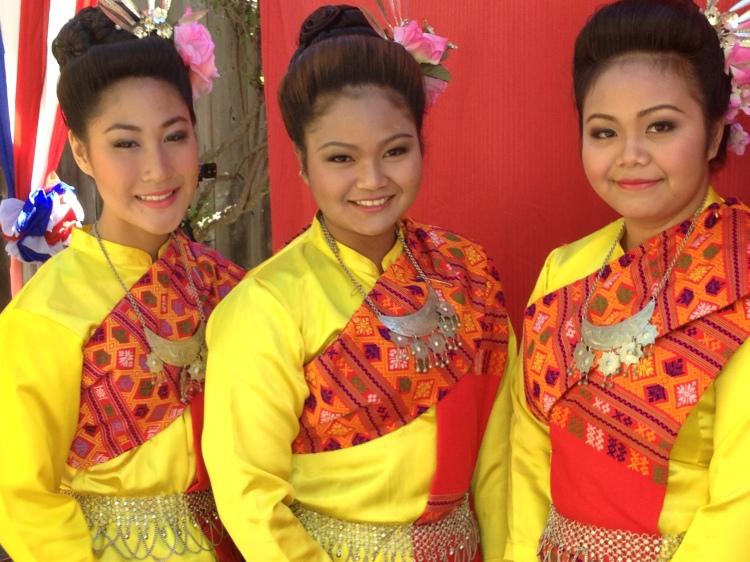 Girls in their Sunday best Berkeley Thai Temple