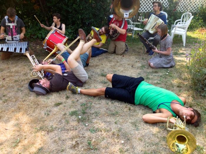 Back yard band gets down