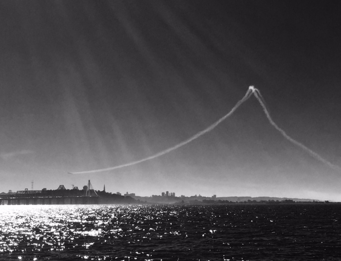 Blue angels and Bay Bridge