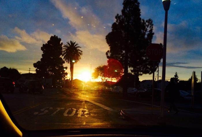 Halloween  Sunset From BART Parking Lot