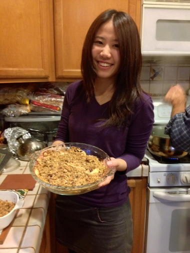 Cindy Lee Proud of making apple crumble