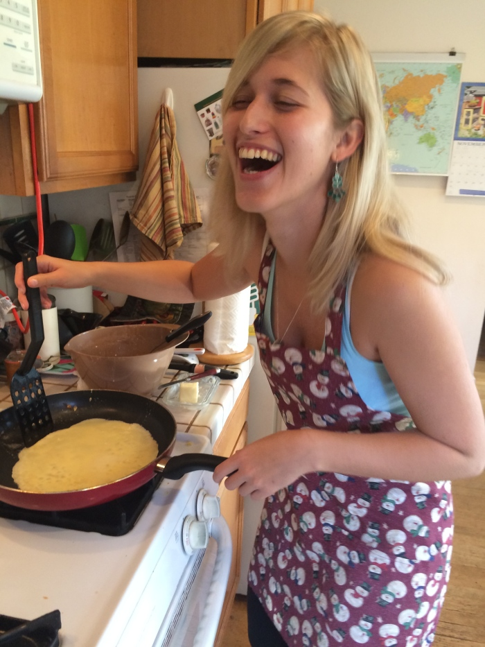 Fun making crepes