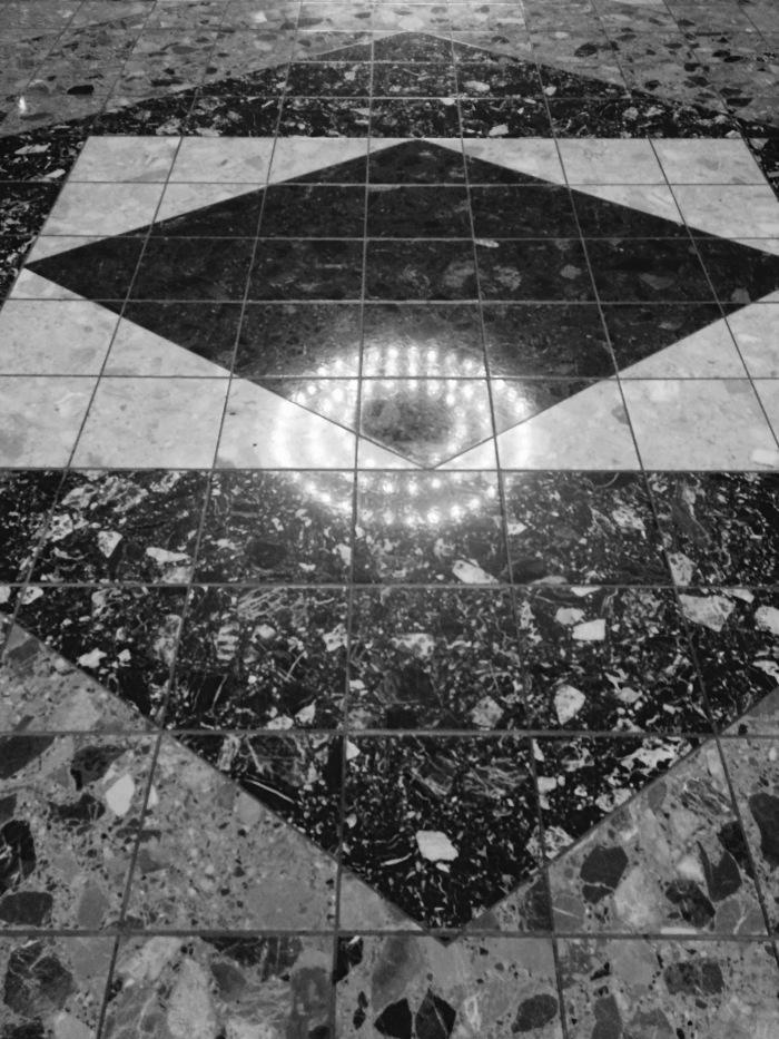 Marble floor or space craft landing stip?