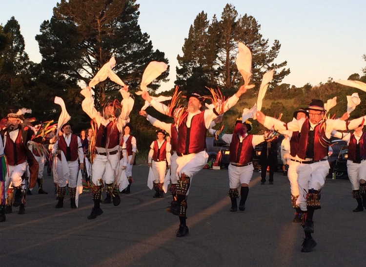 Indicate steps of May Day Dance By The Morris Dancers
