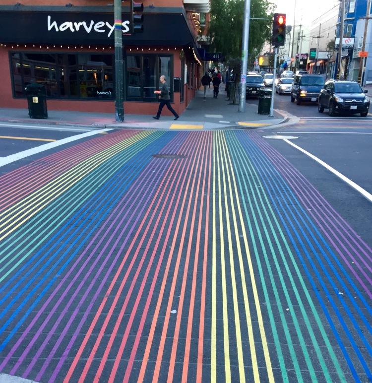 Cross walk in San Francisco's Castro
