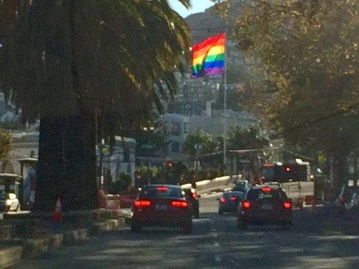 Pride Rainbow Flag Castro SF