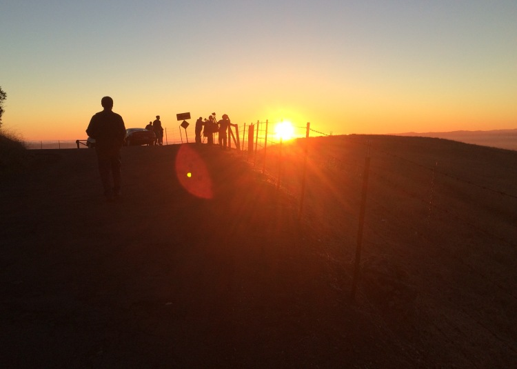 1-Sunset High atop Sanoma Mountain Road