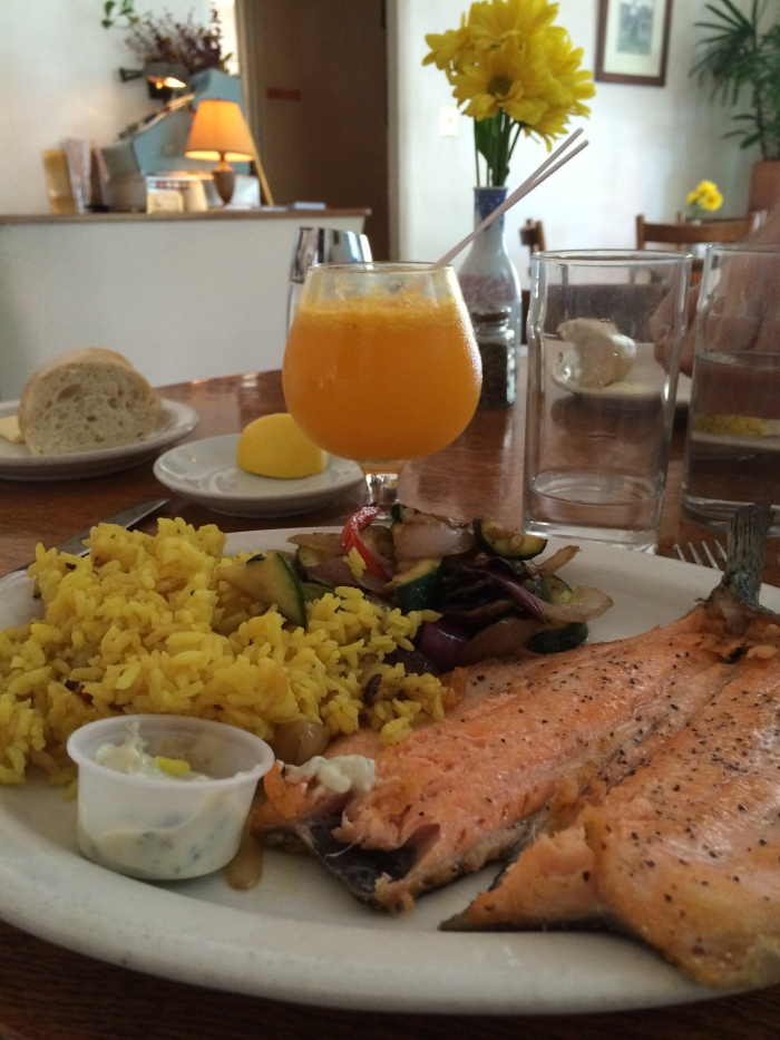 Trout and Mimosa At Bateau Eve