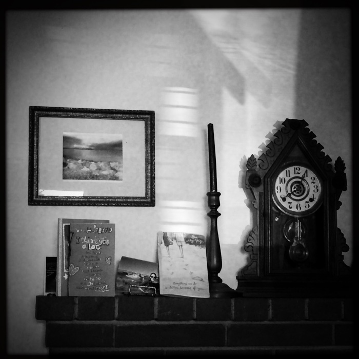 Clock and candle