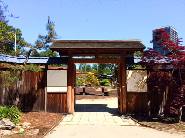 Gate To Bonsai Garden At Lake Merrit