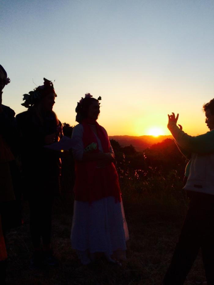 Gathering at sunrise
