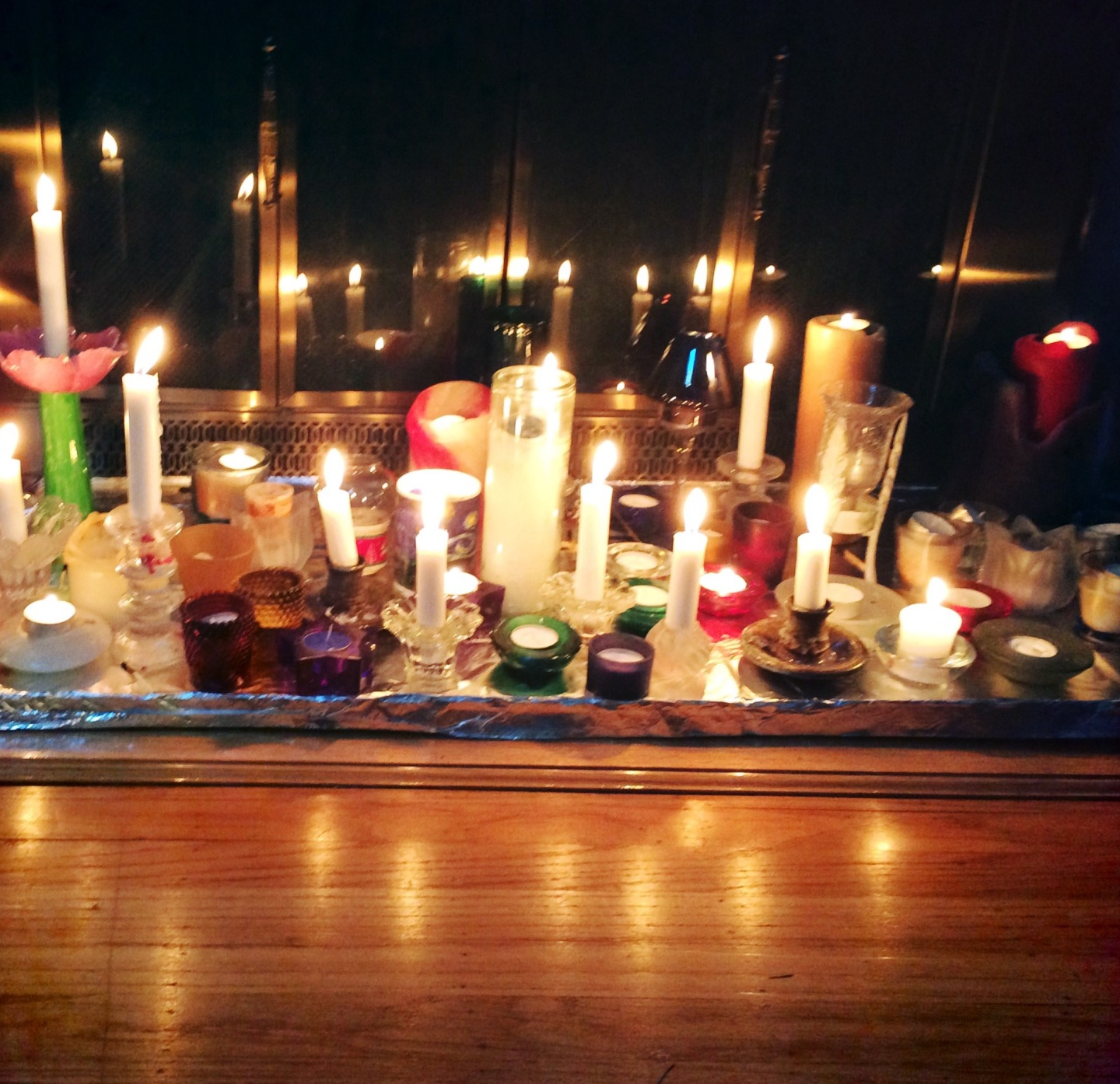 Candles on the hearth