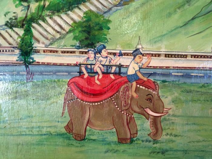 Image from mural of Khatmandh