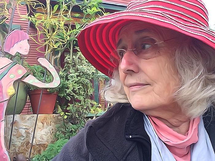 Toon Camera Edit of Selfie with Garden Art