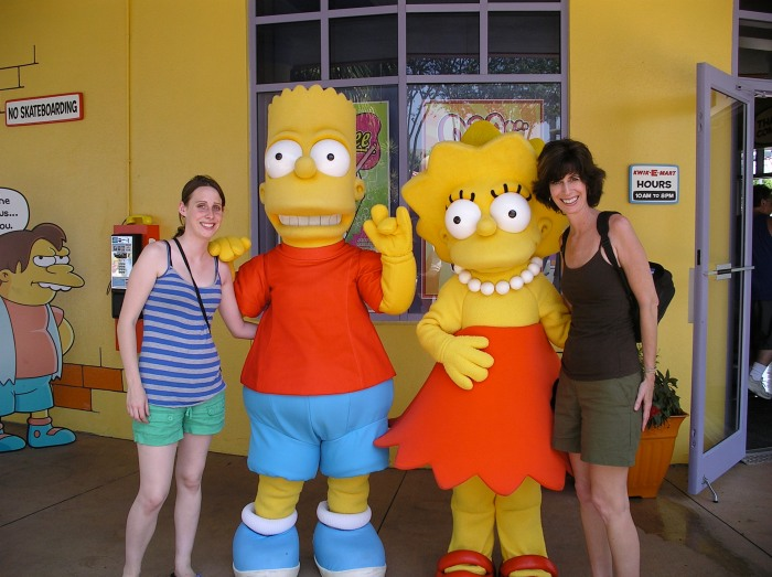 Sisters With Bart and Maggie