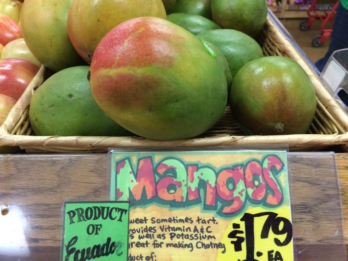 Start with the mango