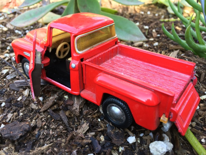 Red Truck in the garden