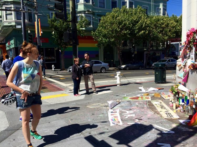 Orlando Memorial On The  Castro Sidewalk