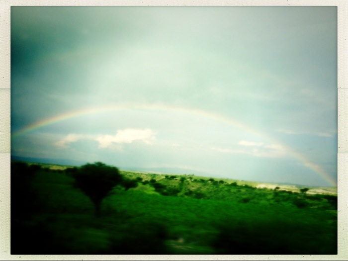 Rainbow From a Bus Mexico