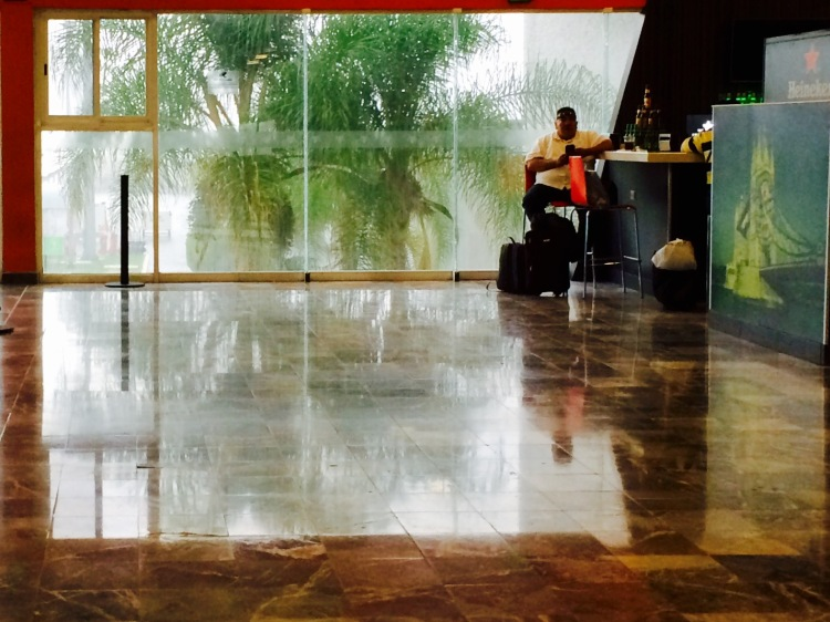 Waiting out the storm at Leon Guanajuato Airport