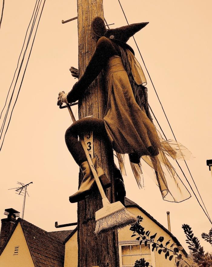 Sepia Splat Witch