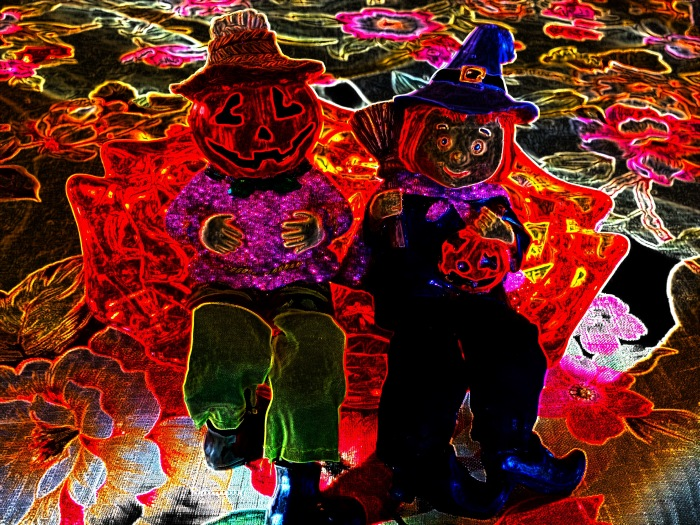 Neon Pumpkin People