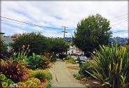 Sidewalk Santa Fe Ave