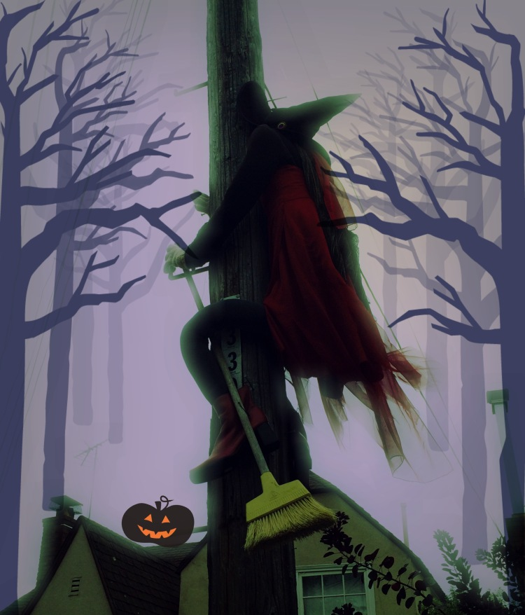 Spat Witch with many Pixlr Edits