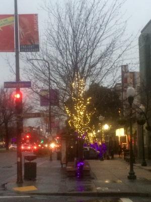 Downtown Berkeley in the Rain